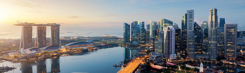 Singapore at sunrise