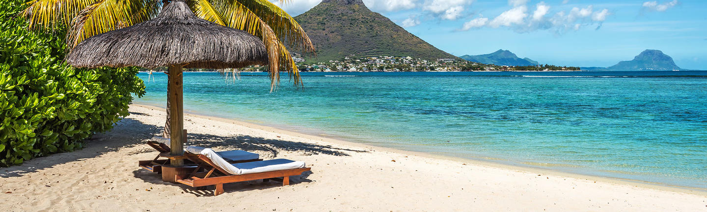 A beach in Mauritius