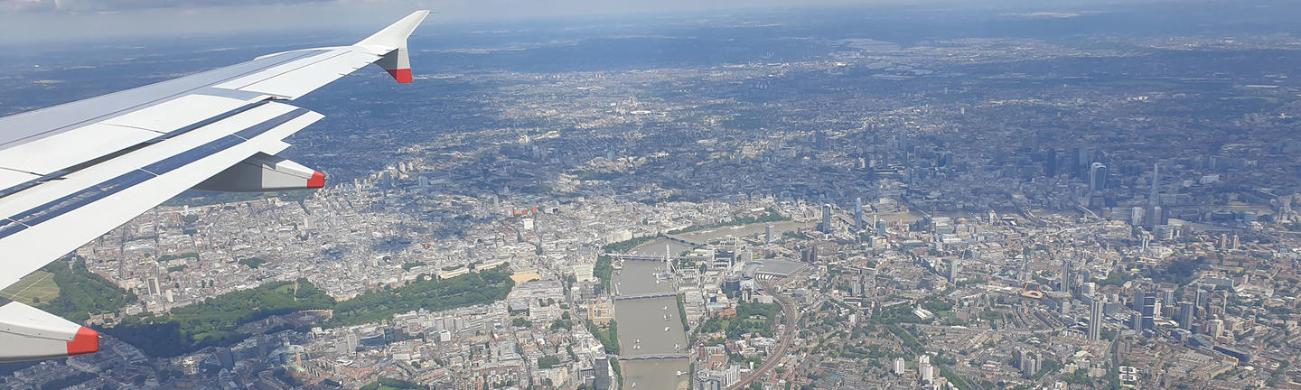 London from the air (image: Alex Cronin)